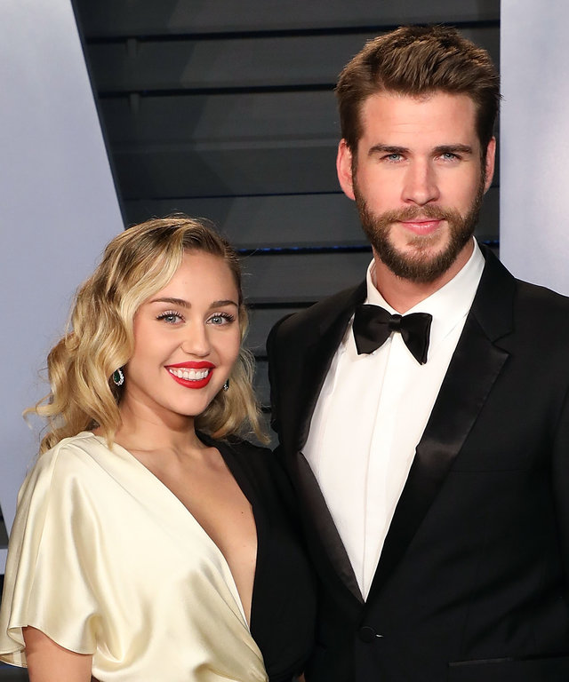 Liam Hemsworth Miley Cyrus 2018 Vanity Fair Oscar Party Hosted By Radhika Jones