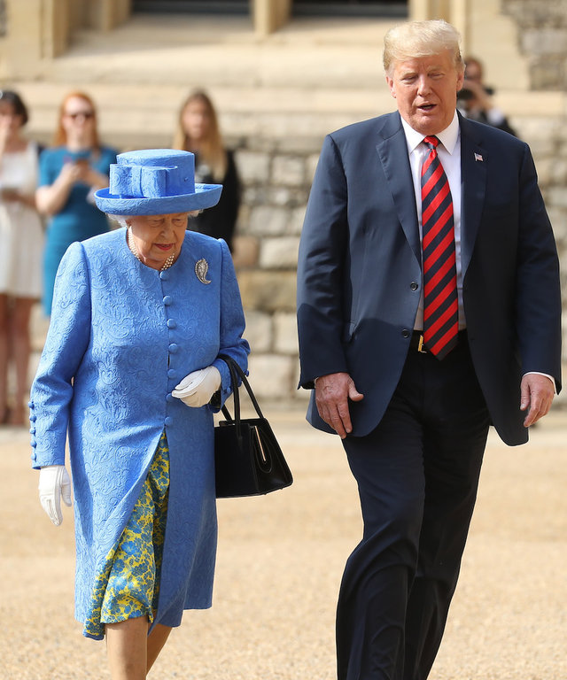 Queen Elizabeth and Donald Trump lead