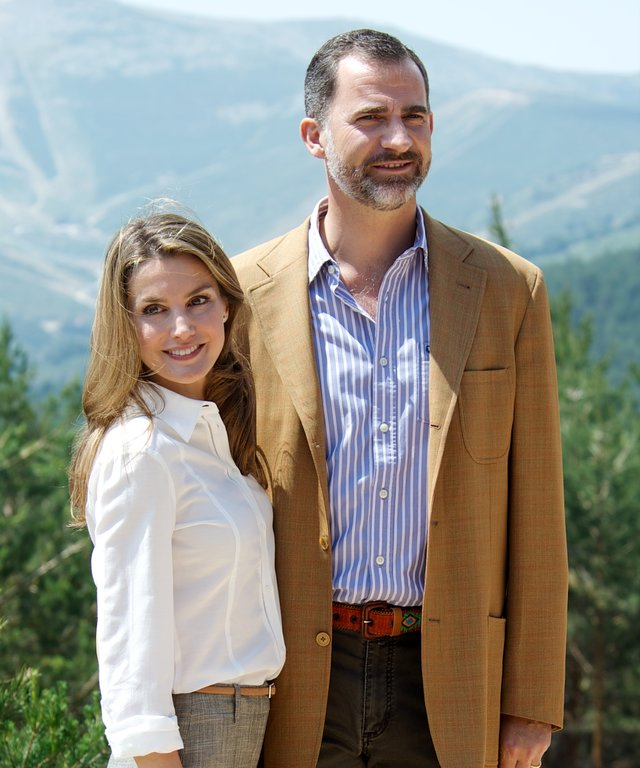 Prince Felipe of Spain and Princess Letizia of Spain Visit Sierra de Guadarrama National Park