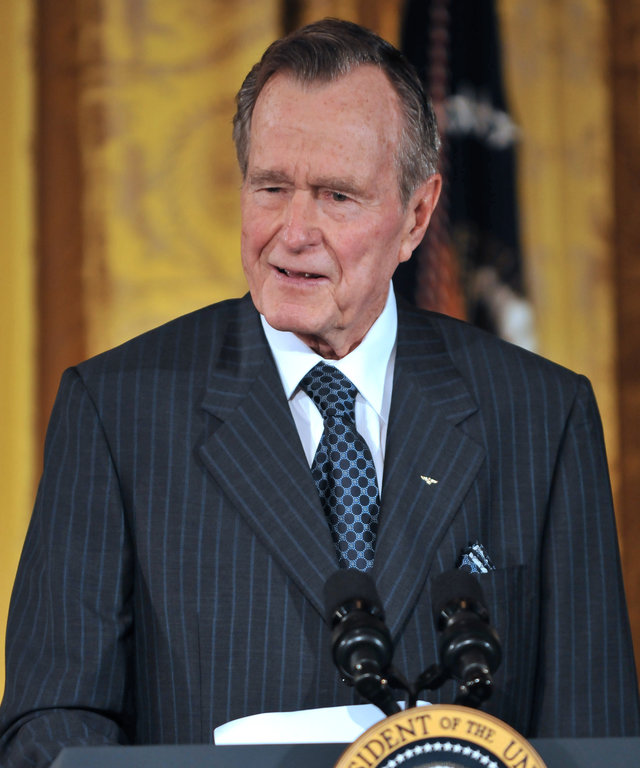 Bush Attends Reception Honoring Points Of Light Institute
