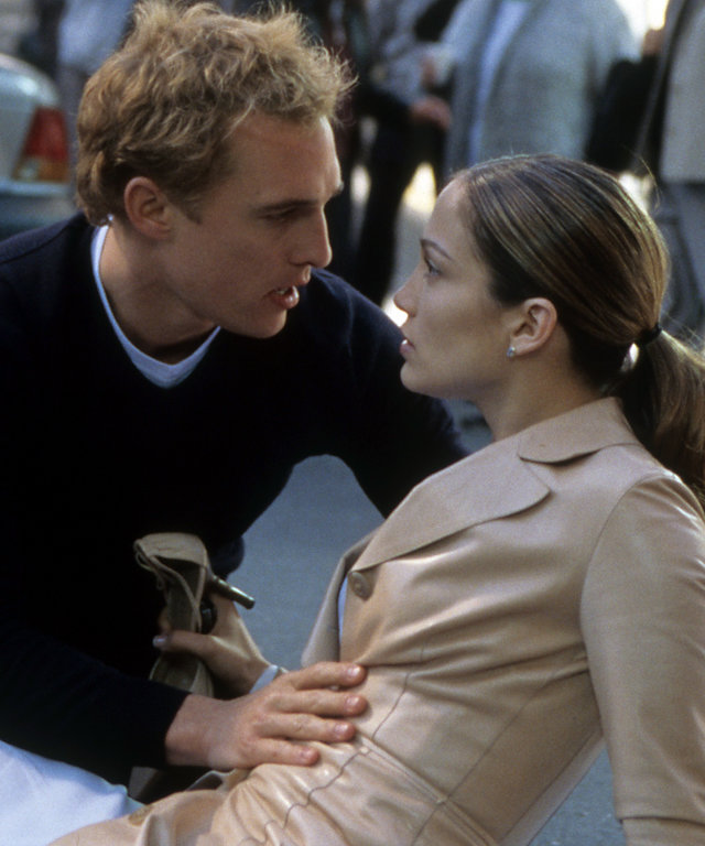 Matthew McConaughey And Jennifer Lopez In 'The Wedding Planner'