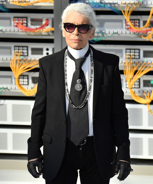 Karl Lagerfeld Celeb Reactions