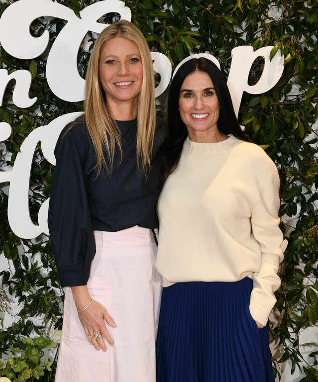 Demi Moore Gwyneth Paltrow In goop Health Summit New York 2019