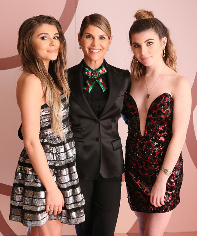 WEST HOLLYWOOD, CA - DECEMBER 14:  (L-R) Olivia Jade Giannulli, Lori Loughlin and Isabella Rose Giannulli celebrates the Olivia Jade X Sephora Collection Palette Collaboration Launching Online at Sephora.com on December 14, 2018 in West Hollywood,...