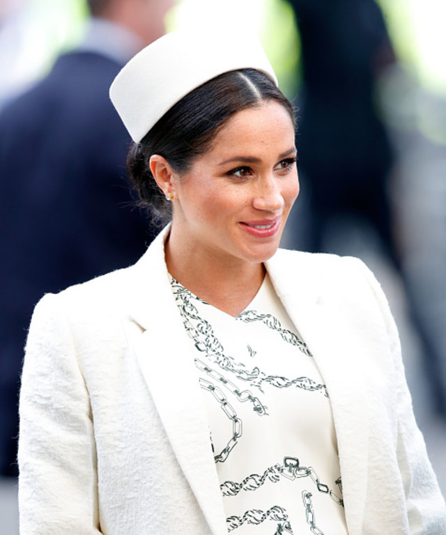 LONDON, UNITED KINGDOM - MARCH 11: (EMBARGOED FOR PUBLICATION IN UK NEWSPAPERS UNTIL 24 HOURS AFTER CREATE DATE AND TIME) Meghan, Duchess of Sussex attends the 2019 Commonwealth Day service at Westminster Abbey on March 11, 2019 in London, England. ...