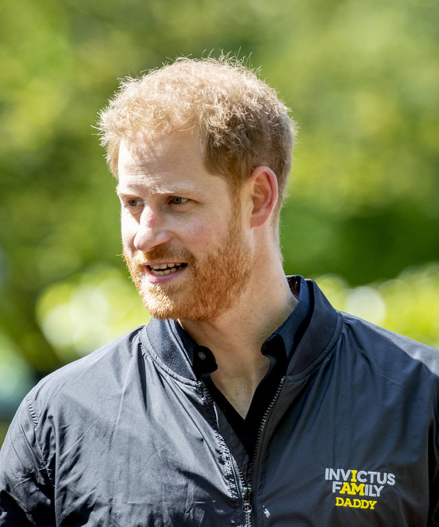 THE HAGUE, NETHERLANDS - MAY 09: Prince Harry, Duke of Sussex during the launch of the Invictus Games on May 9, 2019 in The Hague, Netherlands. (Photo by Patrick van Katwijk/WireImage)