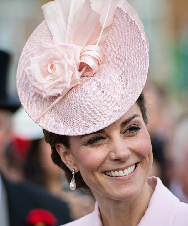 LONDON, ENGLAND - MAY 21: Catherine, Duchess of Cambridge attending the Royal Garden Party at Buckingham Palace on May 21, 2019 in London, England. (Photo by Dominic Lipinski - WPA Pool/Getty Images)