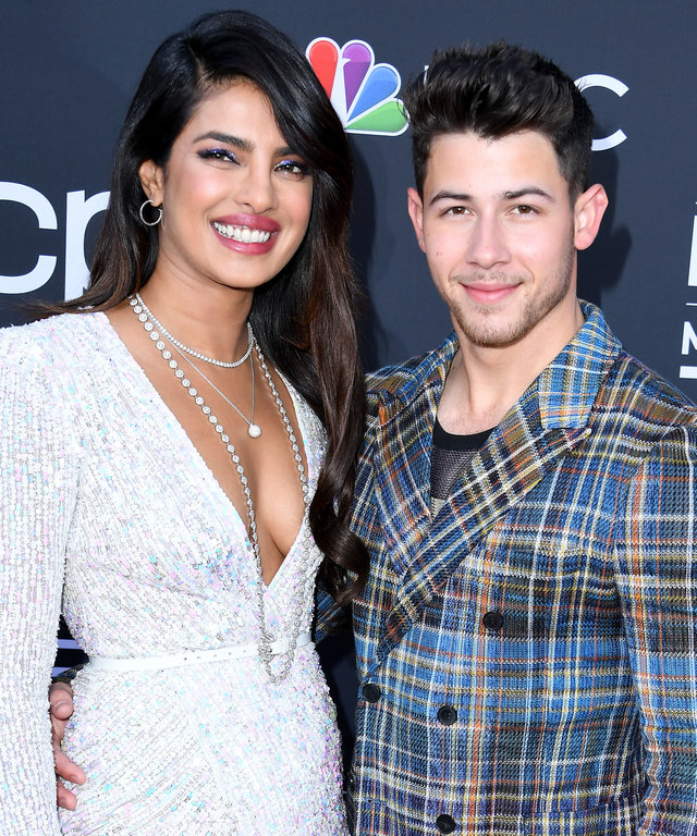 LAS VEGAS, NEVADA - MAY 01: 2019 Priyanka Chopra and Nick Jonas arrives at the Billboard Music Awards at MGM Grand Garden Arena on May 01, 2019 in Las Vegas, Nevada. (Photo by Steve Granitz/WireImage)