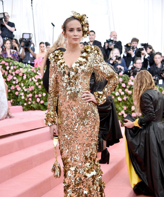 NEW YORK, NEW YORK - MAY 06: Emily Blunt attends The 2019 Met Gala Celebrating Camp: Notes on Fashion at Metropolitan Museum of Art on May 06, 2019 in New York City. (Photo by Theo Wargo/WireImage)