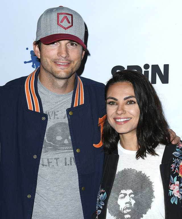 LOS ANGELES, CA - AUGUST 23:  Ashton Kutcher, Mila Kunis arrives at the 6th Annual PingPong4Purpose at Dodger Stadium on August 23, 2018 in Los Angeles, California.  (Photo by Steve Granitz/WireImage)
