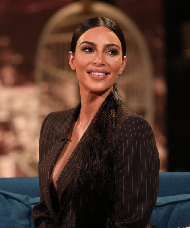 BUSY TONIGHT -- Episode 125 -- Pictured: Kim Kardashian on the set of Busy Tonight -- (Photo by: Jordin Althaus/E! Entertainment/NBCU Photo Bank via Getty Images)