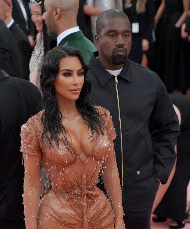 NEW YORK, NY - MAY 6: Kanye West and Kim Kardashian West attend The Metropolitan Museum Of Art's 2019 Costume Institute Benefit  Camp: Notes On Fashion  at Metropolitan Museum of Art on May 6, 2019 in New York City. (Photo by Sean Zanni/Patrick...