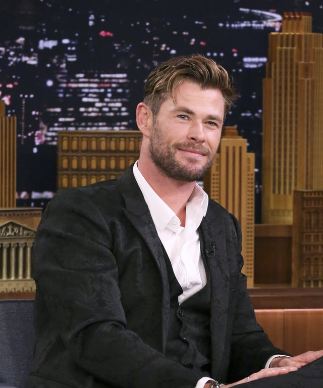 THE TONIGHT SHOW STARRING JIMMY FALLON -- Episode 1079 -- Pictured: Actor Chris Hemsworth during an interview on June 12, 2019 -- (Photo by: Andrew Lipovsky/NBC/NBCU Photo Bank via Getty Images)