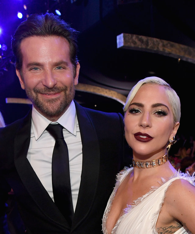 LOS ANGELES, CA - JANUARY 27:  Bradley Cooper and Lady Gaga attend the 25th Annual Screen Actors Guild Awards at The Shrine Auditorium on January 27, 2019 in Los Angeles, California. 480568  (Photo by Kevin Mazur/Getty Images for Turner)