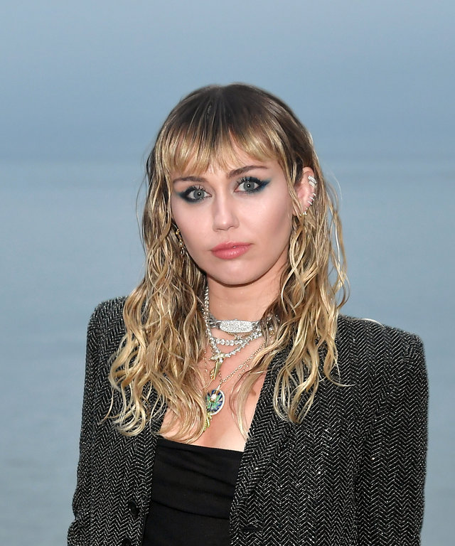 MALIBU, CALIFORNIA - JUNE 06: Miley Cyrus attends the Saint Laurent Mens Spring Summer 20 Show on June 06, 2019 in Paradise Cove Malibu, California. (Photo by Neilson Barnard/Getty Images)