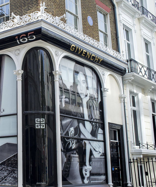 View of the Givenchy store in Mayfair, London on September 10, 2018. (Photo by Alberto Pezzali/NurPhoto via Getty Images)