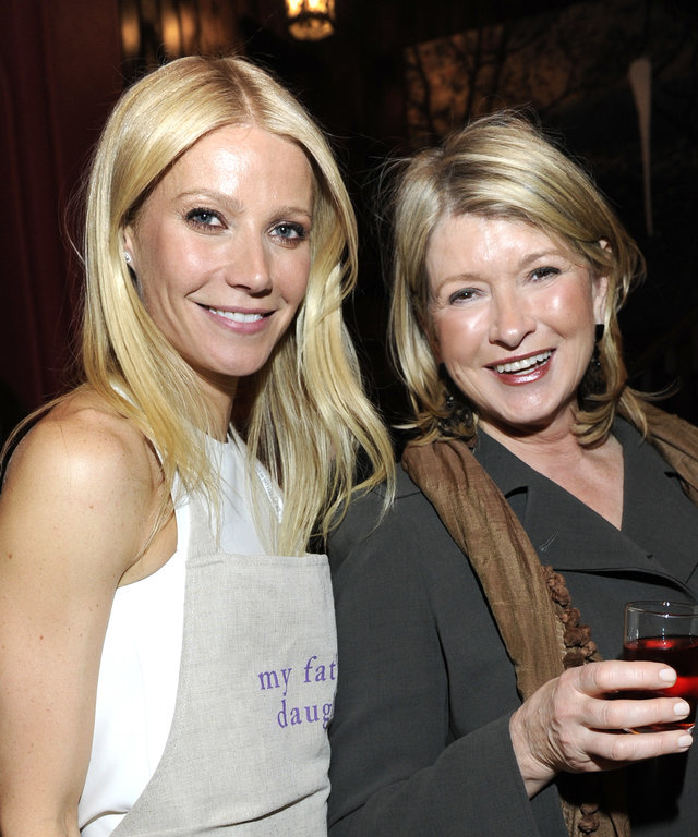 NEW YORK, NY - APRIL 11:  (Exclusive Coverage) Gwyneth Paltrow and Martha Stewart attend the celebration of  My Father's Daughter  on April 11, 2011 in New York City.  (Photo by Kevin Mazur/WireImage)
