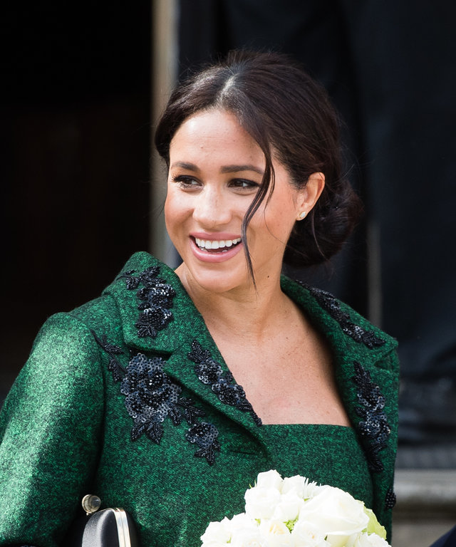LONDON, ENGLAND - MARCH 11: Meghan, Duchess of Sussex attends a Commonwealth Day Youth Event at Canada House on March 11, 2019 in London, England. The event will showcased and celebrated the diverse community of young Canadians living in London and...