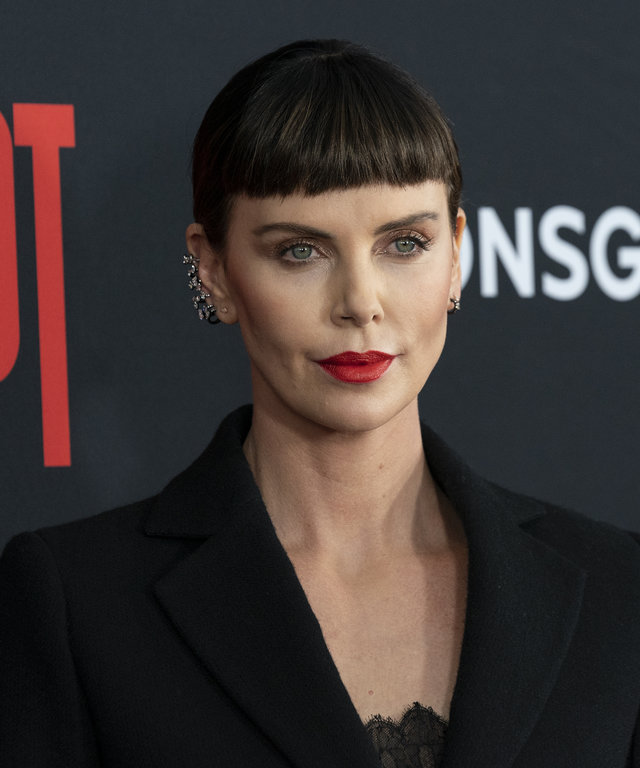 Charlize Theron attends premiere of Long Shot at AMC Lincoln...