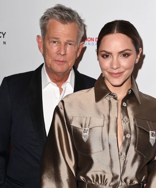 BEVERLY HILLS, CALIFORNIA - MAY 19: David Foster and Katharine McPhee arrives at the American Icon Awards at the Beverly Wilshire Four Seasons Hotel on May 19, 2019 in Beverly Hills, California. (Photo by Steve Granitz/WireImage)