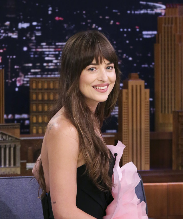 THE TONIGHT SHOW STARRING JIMMY FALLON -- Episode 1103 -- Pictured: Actress Dakota Johnson during an interview on August 6, 2019 -- (Photo by: Andrew Lipovsky/NBC/NBCU Photo Bank via Getty Images)