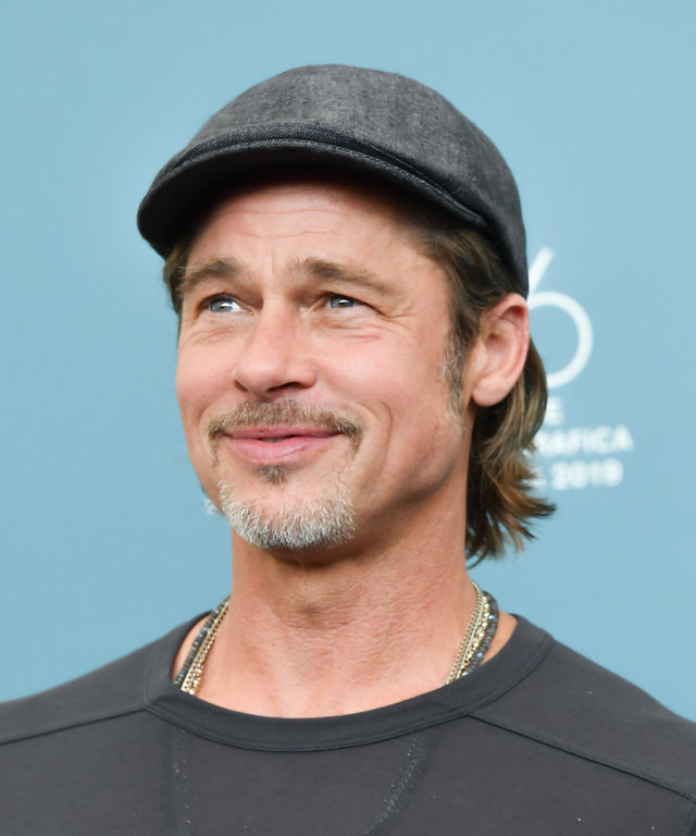 VENICE, ITALY - AUGUST 29:  Brad Pitt attends  Ad Astra  photocall during the 76th Venice Film Festival at Sala Grande on August 29, 2019 in Venice, Italy. (Photo by Dominique Charriau/WireImage)