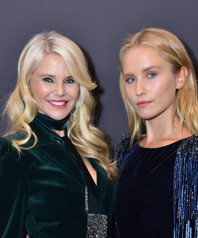 NEW YORK, NY - FEBRUARY 07: Christie Brinkley and her daughter Sailor Brinkley-Cook attend Elie Tahari FW 19 Runway Show on February 7, 2019 in New York City.  (Photo by Sean Zanni/Patrick McMullan via Getty Images)