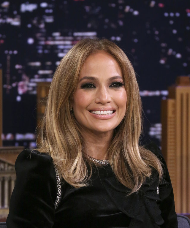 THE TONIGHT SHOW STARRING JIMMY FALLON -- Episode 1116 -- Pictured: Actress Jennifer Lopez during an interview on September 10, 2019 -- (Photo by: Andrew Lipovsky/NBC/NBCU Photo Bank via Getty Images)