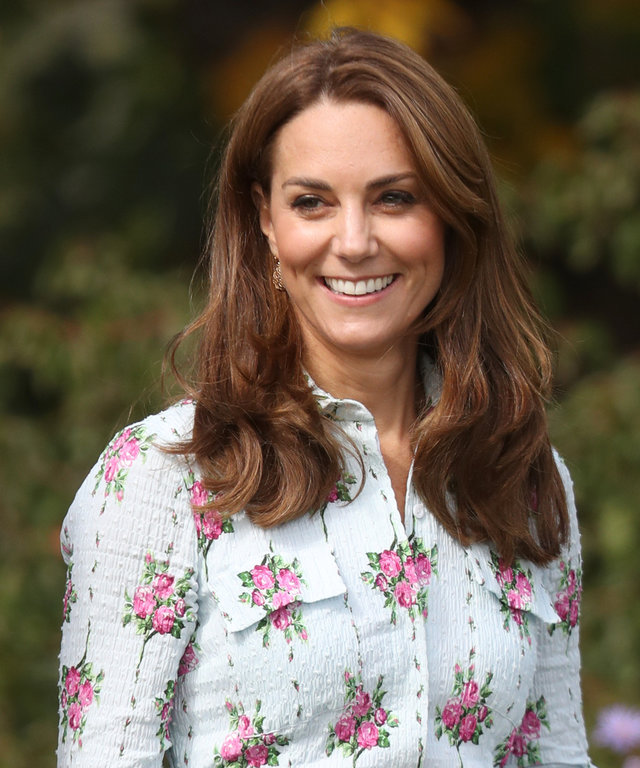 WOKING, ENGLAND - SEPTEMBER 10:  Catherine, Duchess of Cambridge attends the  Back to Nature  festival at RHS Garden Wisley on September 10, 2019 in Woking, England. (Photo by Chris Jackson/Getty Images)