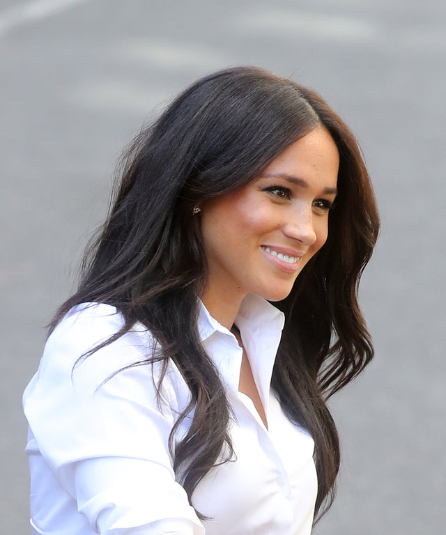 LONDON, ENGLAND - SEPTEMBER 12: Meghan, Duchess of Sussex arrives to launch the Smart Works capsule collection on September 12, 2019 in London, England. Created in September 2013 Smart Works exists to help unemployed women regain the confidence they...