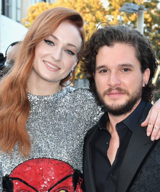Kit Harington Sophie Turner Emmys Game of Thrones