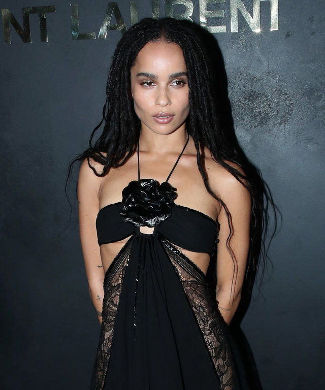 Zoe Kravitz Saint Laurent Paris Fashion Week Spring Summer 2020