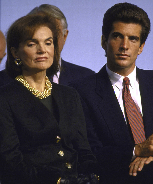 Jackie Kennedy John F. Kennedy Jr. At Reopening Of Kennedy Library