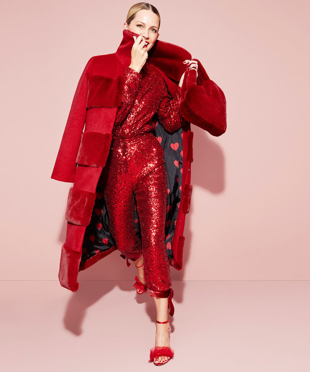 Atlantic Pacific x Halogen Sequin Red Holiday Collection Look