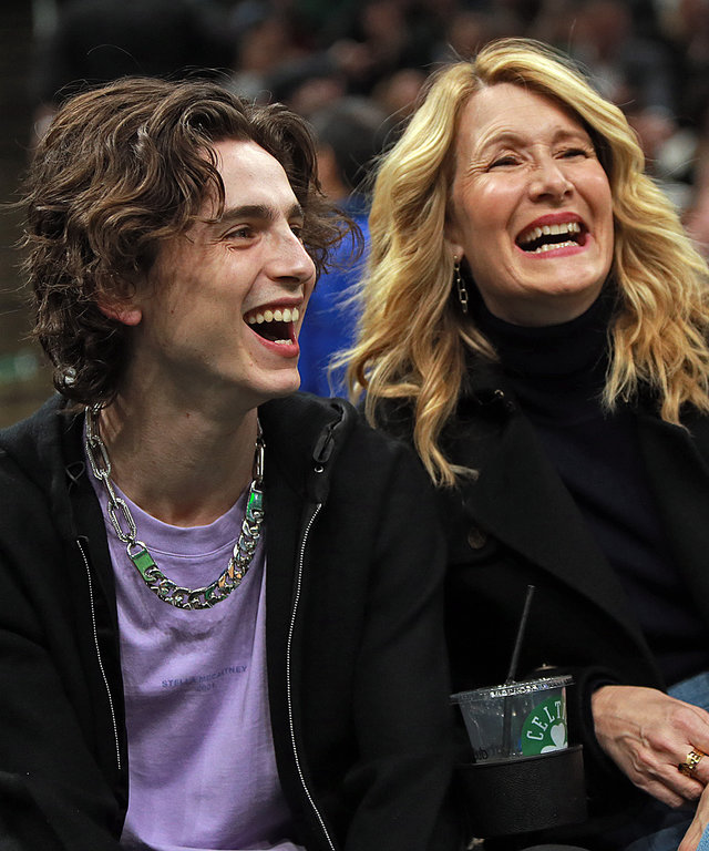 Timothee Chalamet Laura Dern Basketball