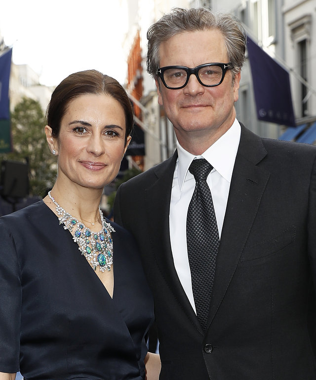Colin Firth Livia Giuggioli at Chopard Bond Street Boutique