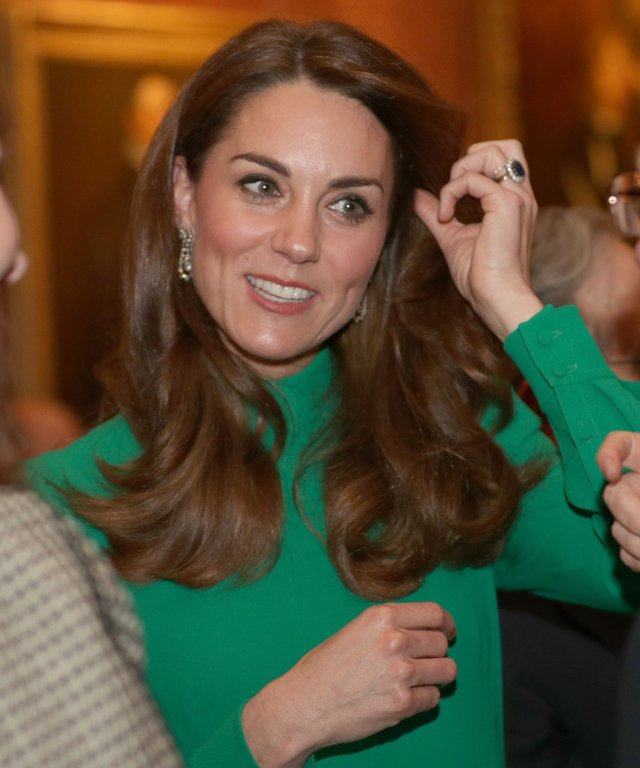 Kate Middleton NATO reception Emilia Wickstead green look