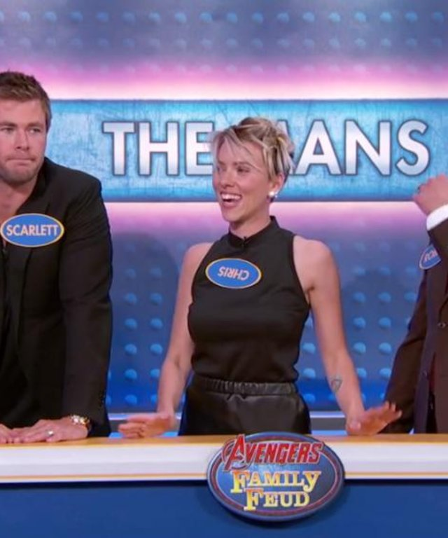 Cast of The Avengers: Age of Ultron play Family Feud