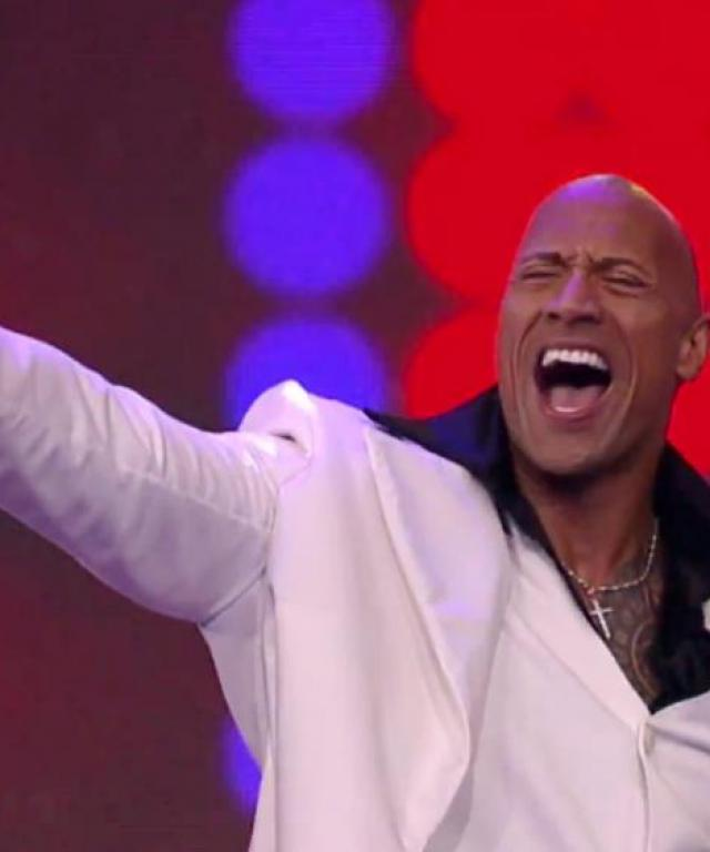dwayne the rock johnson disco dances his way to the first lip sync