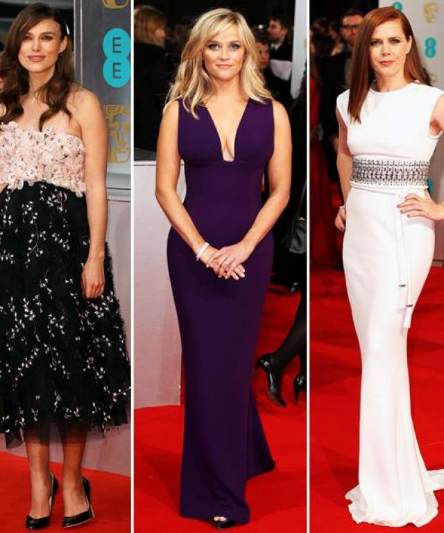 2015 BAFTA Awards red carpet arrivals.