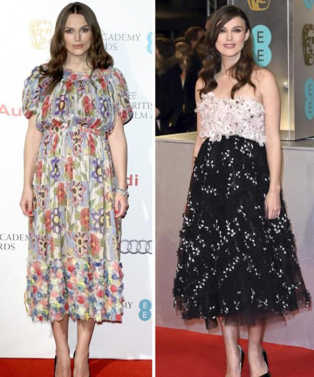 Keira Nightley BAFTAs fashion
