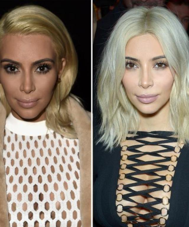 Kim Kardashian hair makeover