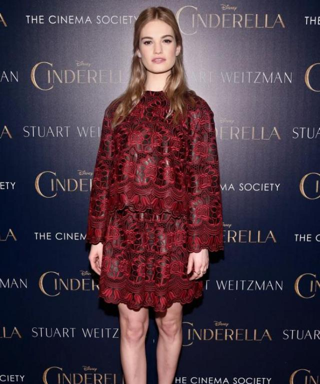 Lily James in Dolce & Gabbana