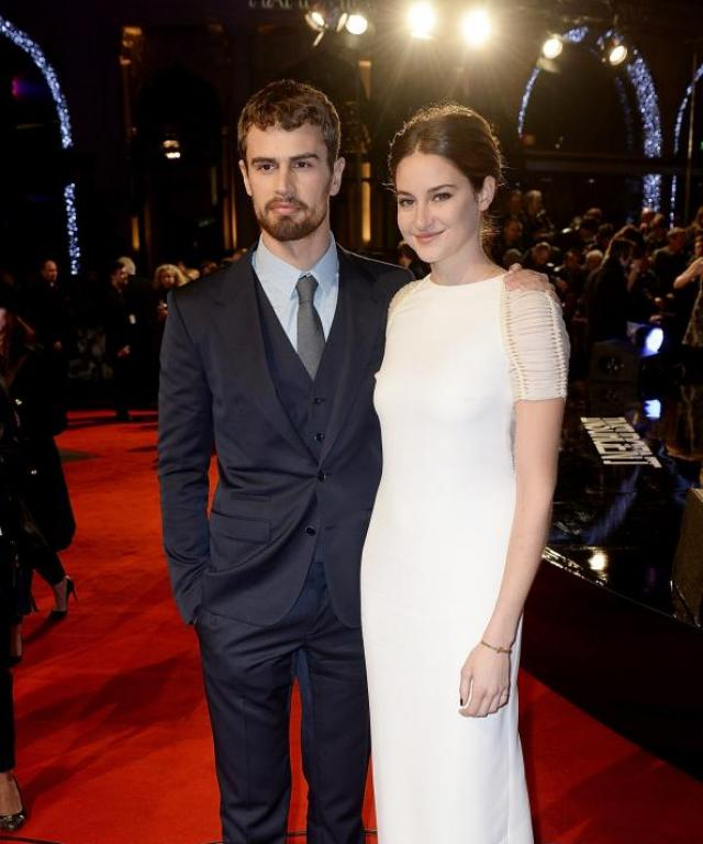 Theo James and Shailene Woodley at Insurgent World Premiere