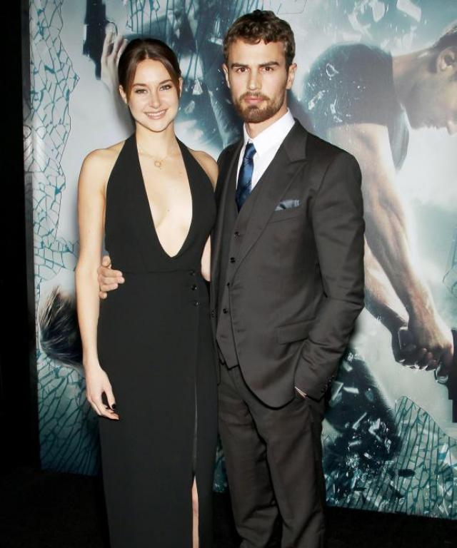 Shailene Woodley and Theo James at Insurgent Premiere