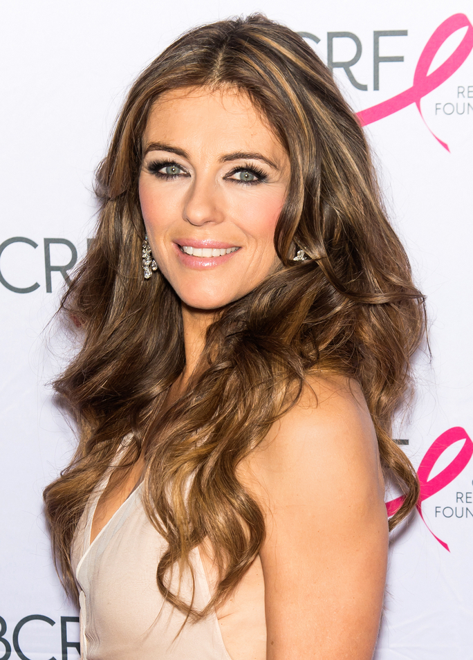 Elizabeth Hurley Wears a Bikini in Her Christmas Card Photo at Age 50