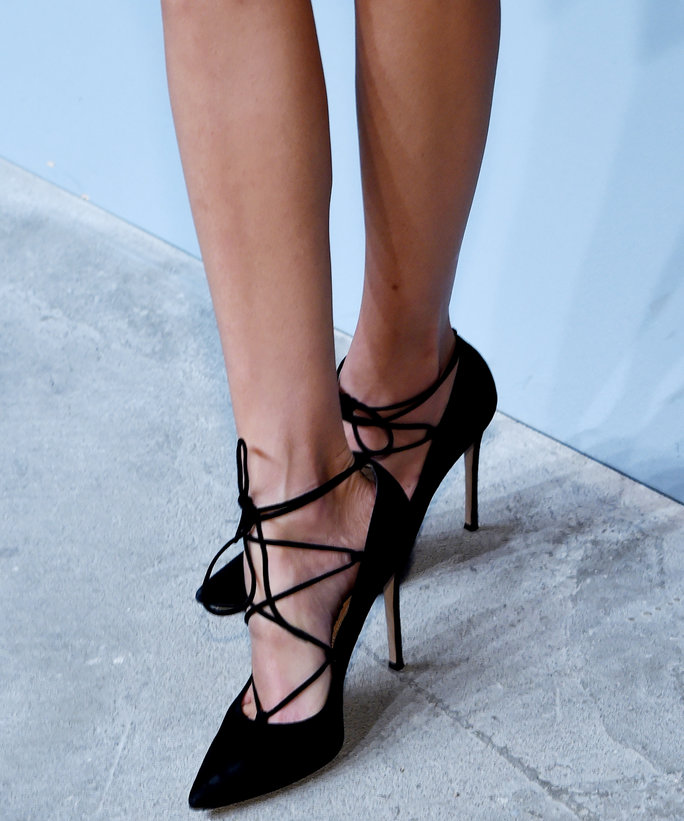 Black Lace-Up Heels - Fall Shoe Trend | InStyle.com