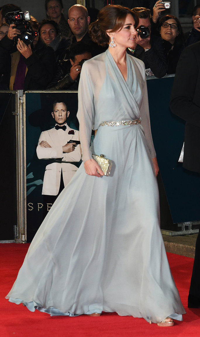 Kate Middleton's Gown from the <em>Spectre</em> Premiere Looks Even Better from the Back