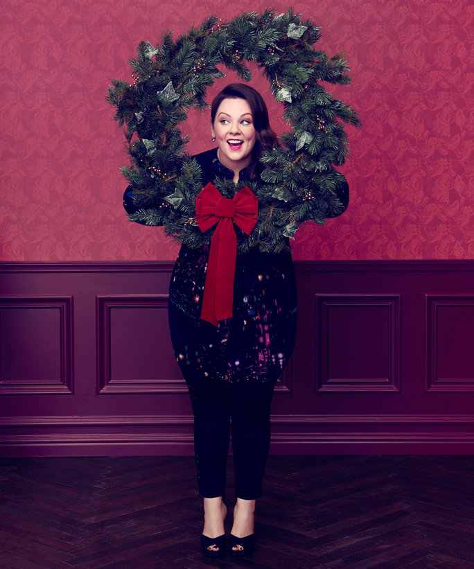 Melissa McCarthy Gets Into the Christmas Spirit in Her Seven7 Holiday Campaign