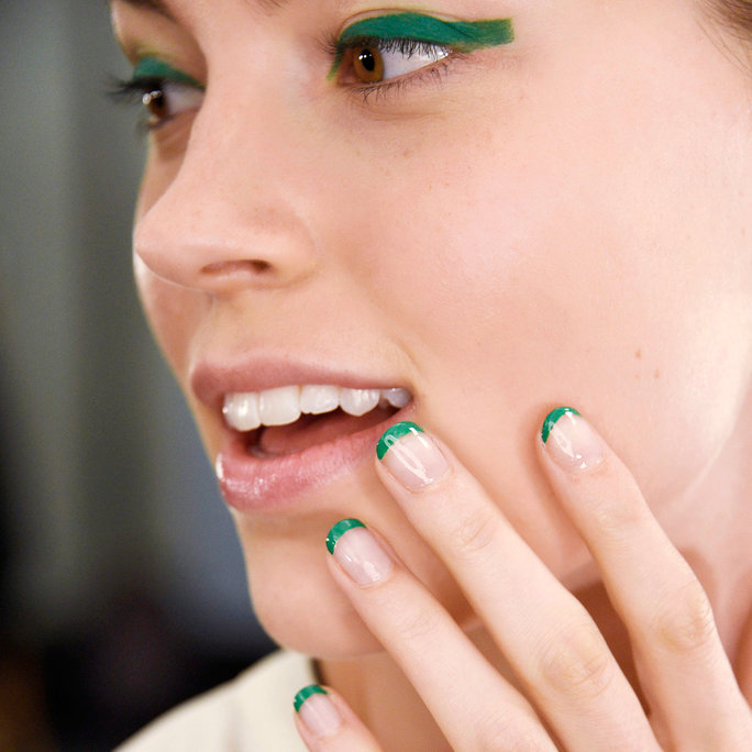 <p>The Reverse French Manicure</p>